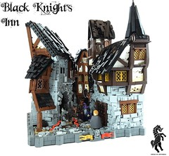 The Black Knight's Inn (Jacob Nion) Tags: castle fantasy middleages medieval houses town inn tavern knight black lego skaven rat historica eurobricks nocturnus war sotry fanfiction