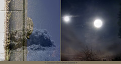 Night with 2 Moons (andrefromont/fernandomort) Tags: andréfromont andrefromontfernandomort fernandomort diptych diptyque meditation méditation lune moon