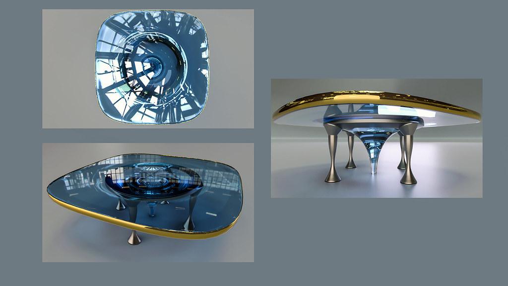 TableD9f (Ke7dbx) Tags: Table Furniture Industrialdesign Productdesign  Metal Glass 3d Modo Cg Cgi