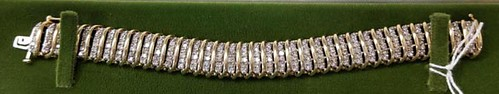 10K Gold Bracelet with 216 Round Diamonds ($1,120.00)