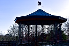 Still waiting for that band to show up... (Nanny Bean) Tags: saltburnbythesea seasideresort victorian bandstand weathervane filigree silhouettes
