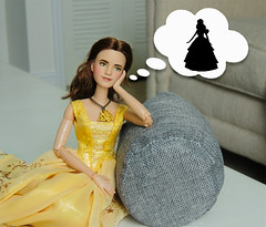 Waiting.... (They Call Me Obsessed) Tags: belle beauty beast emma watson doll dolls barbie new rare ooak 2017 disney store princesses princess collection art artistry paint