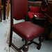 Leatherette dining chair