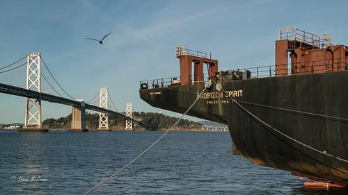 Alongside Oakland Bridge