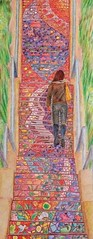 Requiem for Pianos (linked to Proverbs 3:5-6) (augustinecollective) Tags: coloredpencil drawing requiem piano stair staircase