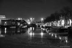 Mechelen by night (DirkVandeVelde ( very busy)) Tags: europa europ europe belgie belgium belgica belgique buiten antwerpen anvers antwerp mechelen malinas malines keerdok blackandwhite zwartwit noirblanc sony