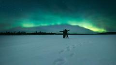 Under the Lights (mitalpatelphoto) Tags: aurora auroraborealis europe explore horizontal indurotripod landscape longexposure nikon northernlights photography snow sweden travel visit norrbottenslän se