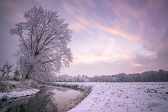 ´winterland´ (ppausb87) Tags: winter kalt cold landschaft landscape nature natur seascape waterscape sonnenuntergang sunset sundown germany deutschland niedersachsen lowersaxony river fluss white snow schnee liebe love leidenschaft passion longexposure langzeitbelichtung harmony harmonie melancholy