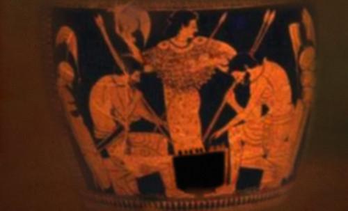 "Petteia - Ludus Latrunculorum  / Iconografía de las civilizaciones helenolatinas • <a style=""font-size:0.8em;"" href=""http://www.flickr.com/photos/30735181@N00/32522195725/"" target=""_blank"">View on Flickr</a>"