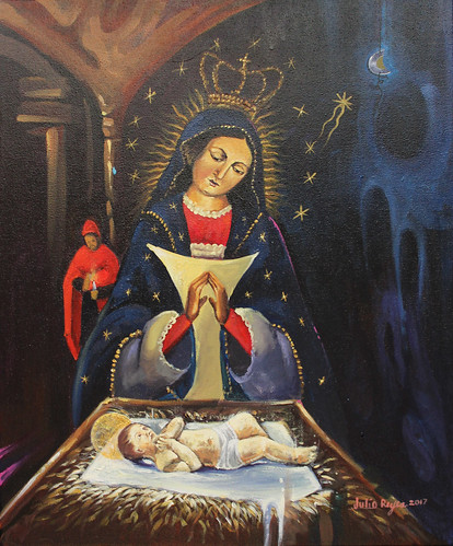 "Virgen de la Altagracia - Julio Reyes - pintura acrílica tela 37x45 - 2017 • <a style=""font-size:0.8em;"" href=""http://www.flickr.com/photos/136092263@N07/32552430992/"" target=""_blank"">View on Flickr</a>"