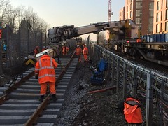 West Hampstead 18A/B junction work renewal 22/1/17 (P Way Owen) Tags: rail crane 250 kirow