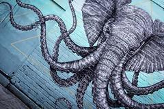 The Octophant (mario bellavite) Tags: graphic green streetartist tentacles animals chimera animal murales mural brushes hanburystreet cool streetart peinture shoreditch lapandilla street artist alexisdiaz bricklane london graffiti elephant octopus octophant