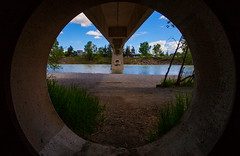 Under The Bridge (stevenbulman44) Tags: bridge architecture canon river circle bluesky structure alberta lseries 1740f40l