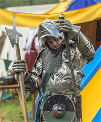 Make that sword safe (Clive1945) Tags: sword knight armour reenactor reanactment d7100 tewkesburymedieval