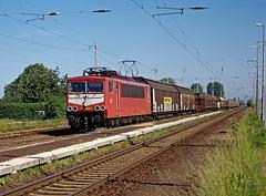 DB 155 256 (maurizio messa) Tags: railroad germany railway trains sachsen bahn mau germania freighttrain ferrovia treni yashicafxd br155 guterzuge stromcontainer