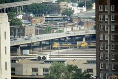 Santa Fe train passing the Kansas City  MO depot on 6/4/77 (LE_Irvin) Tags: santafe kansascity depot