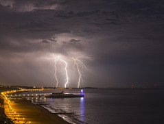 Lightning over Bournemouth (Nick L) Tags: sea beach night canon pier sand canon5d lightning lightshow bournemouth thunder bournemouthpier forklightning canon2470l eos5dmarkiii 5d3 5dmarkiii eos5dmk3 canon5d3 canon5dmark3 eos5dmkiii canon2470li