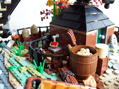 Baker's Mill (Bennemans1984) Tags: holland tree green mill windmill dutch dock lego bricks blocks kinderdijk molen moc afol standerdmolen