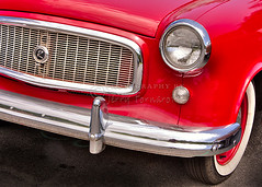 1960 American Super 2 door Sedan (Jerry Fornarotto) Tags: red lines car logo bright symbol tag tire front grill bumper fender chrome vehicle hood headlight amc rambler whitewall frontend blinker americanmotors americanmotorscorporation jerryfornarotto 1960americansuper2doorsedan