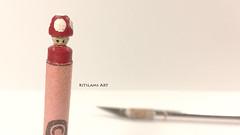 Crayola Crayon Carving   Mario Mushroom (Kitslam's Art) Tags: crayon crayola carving sculpture mario mushroom nintendo art artist artsy youtube timelapse