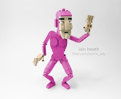 LEGO Pink Guy (Ochre Jelly) Tags: lego moc afol pink meme filthy frank bricks character