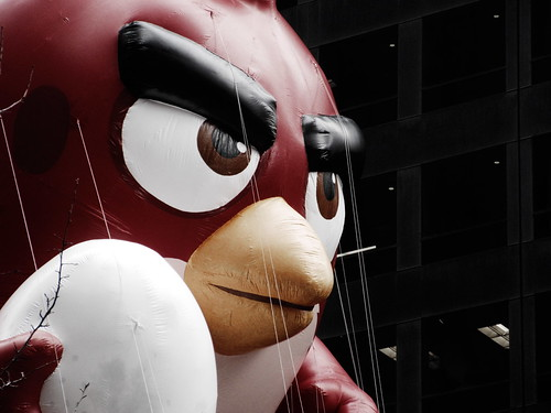 ANGRY BIRDS' RED ROVIO ENTERTAINMENT balloon in the 90th annual Macy's Thanksgiving Day Parade New York City USA