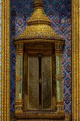2016_04-Bangkok-M00108 (trailbeyond) Tags: architecture asia bangkok blue building frame gold location outdoors pattern religiousbuilding temple templeoftheemeraldbuddha texture thailand thegrandpalace watphrakaew window