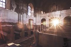 Follow the sun. (Denisa Colours of Decay) Tags: abandoned abandonedplaces urbex urban exploration explore church czphoto czech decay forgotten lost light sun canon tokina