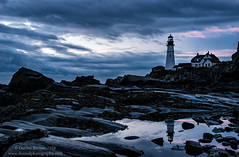 Moody PHL (Dwood Photography) Tags: moodyphl portland head light moody phl portlandheadlight dwoodphotography dwoodphotographycom landscape atlantic ocean atlanticocean maine 2016 blue pink reflection lighthouse rock rocks