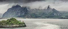 Leaving the Lofotens (ChrisKirbyCapturePhotography) Tags: lofotons norawy scandinavia mpuntains sea wake shipswake