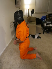 P1020711 (boblaly) Tags: prison prisoner handcuffs handcuffed chain cuffed cuffs chained chains convict locked secure shackled shackles padlock belly belt tubes restraints restrained arrested arrest uniform jumpsuit detention inmate jail