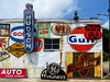 Beer's Auto Sales Signs (J Wells S) Tags: beersautosales lawrenceburg indiana signs hudson sohio phillips66 gulf texaco sunoco mobiloil advertisingsigns sterlingbeer graysealpaint geappliances rust rusty crusty junk owl gassigns oilsigns