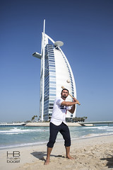 Dodgers player Adrian Gonzalez at Burj Al Arab Dubai