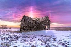 Chop House Sunrise (Pat Kavanagh) Tags: prairies abandoned chophouse foremost alberta canada landscape panorama hdr sundog