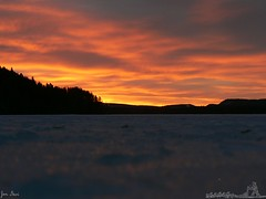 Sunshine in the morning (jondewi52) Tags: colour colours sky clouds outdoors snow river nature trees tree winter sunrise outdoor cloud