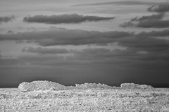 Lake Michigan ice & clouds (mswan777) Tags: ice water lake michigan cold winter scenic shore seascape evening ansel cloud sky nikon d5100 sigma 70300mm