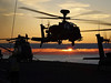 Army Air Corps land at sunset in the Baltic Sea on board HMS Ocean (Royal Navy Media Archive) Tags: army decklanding gunship apache aac sunset mediaoperations surfaceship assaultship europe ocean ocbalt portsmouth hampshire