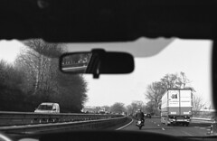 Drive II - Laverda 1000 on the road (Arne Kuilman) Tags: kerst 2016 nederland netherlands trix iso400 f100 nikon 50mm 50mmf14 film scan kodak d76 homedeveloped v600 limburg blackandwhite laverda laverda1000 driving rijden motorway snelweg