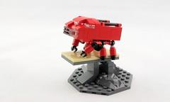 Canyonakoma Display Center (Deltassius) Tags: mobile frame zero lego space mech mecha robot war military microscale terrain vingette sci fi dealership