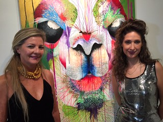 CEVOR Latin American art gallery owner Norma Ordonez with artist Daniela Arboleda at the gallery's Grand opening in Coral Gables