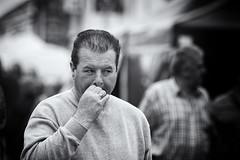 Having a drag .... (Frank Fullard) Tags: frankfullard fullard candid street portrait monotone blackandwhite belmullet erris mayo irish ireland smoker smoking cigarette drag fag inhale watcher watching