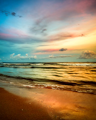 Color Wheel Sunset (Adam Kyle Jackson) Tags: surfside beaches sunset sunsets dusk evening clouds gulf gulfofmexico houston texas