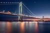 Verrazano Narrows (Rookie Romit) Tags: newyokrcity newyork manhattan verrazanonarrows bridge sky water linghts longexposure nightfall brooklyn