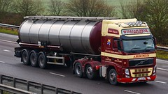 GL12 OXZ (panmanstan) Tags: volvo fh wagon truck lorry commercial tanker fm transport haulage vehicle m18 motorway langham yorkshire