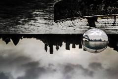The eye this city needs (Rakuli) Tags: ifttt 500px glass ball globe sunset lensing water sydney harbour upsidedown bridge australia golden world cloudy