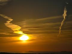 Sky Is On Fire [Εxplored] (Tassos Gi.) Tags: kos sky sun sunset sea clouds fire golden greece