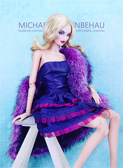Kingdom Doll Eira (Michaela Unbehau Photography) Tags: kingdom doll eira 16 resin ball jointed fashiondoll fashion dolls michaela unbehau toy toys photography couture glamour fur purple lila mode puppe mannequin fotografie