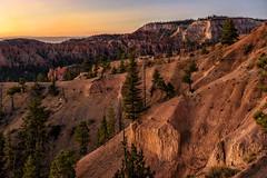Sunset, Bryce Canyon (garshna) Tags: brycecanyonnationalpark canyon deserted environment landscape nature nationalparks outdoors red sky sunset utah