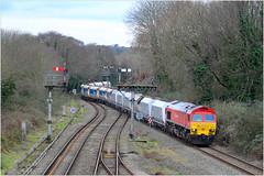 Newport's Surviving Semaphores (Welsh Gold) Tags: dbs 59203 6c80 machen westbury down stone train park junction newport southwales