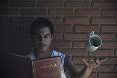 (SdyShadow) Tags: livro book caneca coffee café floating flotuando nikon brazilian brazil odisseia brick sombra shadow boy photography portrait